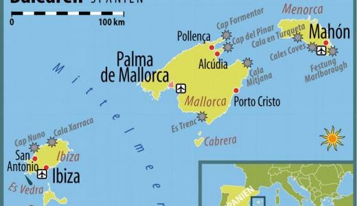 Eiland hoppen Balearen