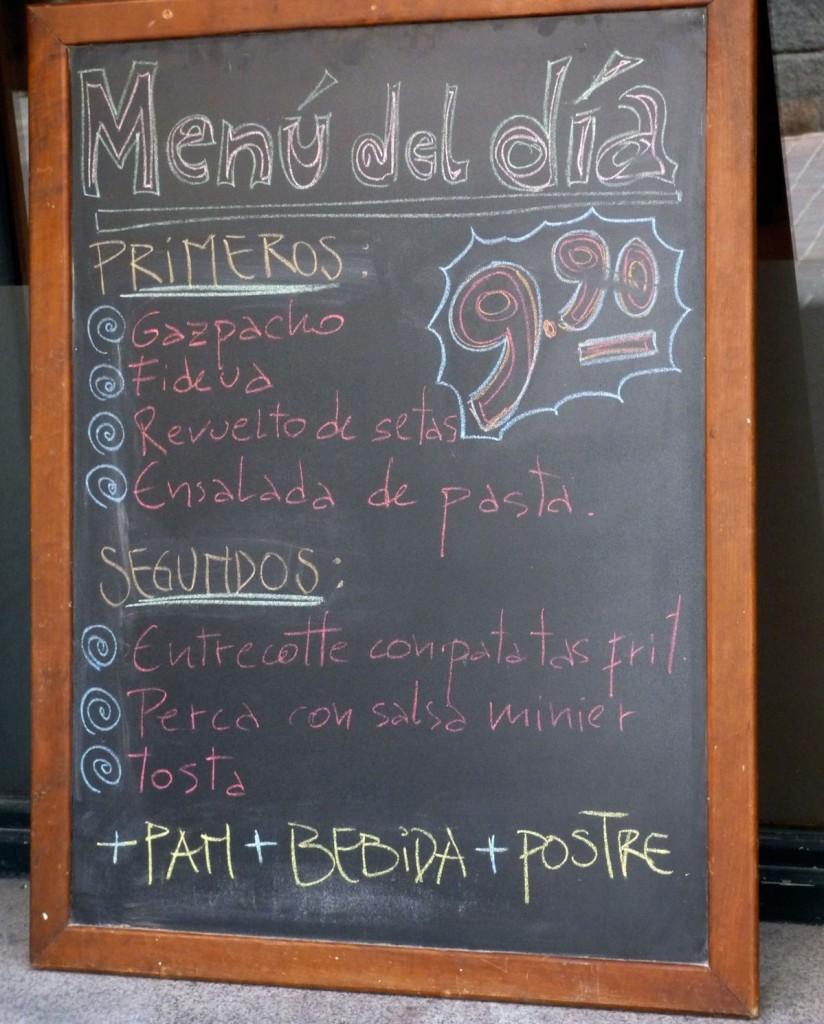 menu del dia